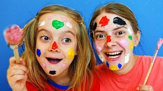 Learn Colors Face Painting Finger Family Song for Kids Collection