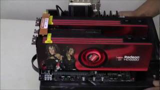 UnBoxing  Sapphire Ati 6990 4GB Dual GPU CrossFire + Looks on ROG Rampage III Black Edition
