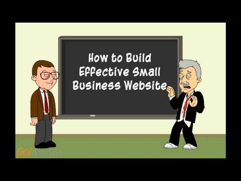 0 Small Business Websites Cartoon With BIG Ideas