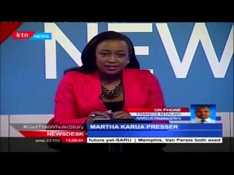 Narc Kenya leader Martha Karua gives report card on Jubilee administration performance on economy
