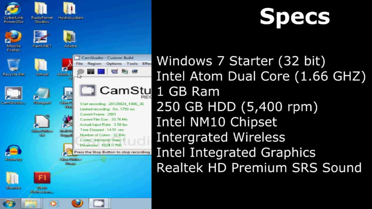 Samsung N145 Plus Netbbok Review Youtube