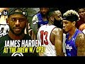 James Harden FOOLIN in Drew League DEBUT w/ Chris Paul Watching!! Game Gets HEATED at The End!!