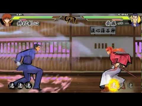 [PSP] Rurouni Kenshin: Meiji Kenkaku Romantan Saisen - Kenshin's Story Mode Part 1