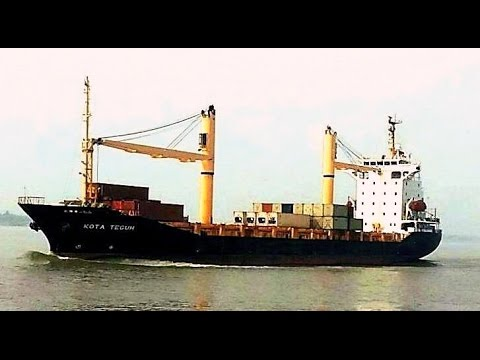 International Cargo Ships at Calcutta Port and Haldia Port, West Bengal, India