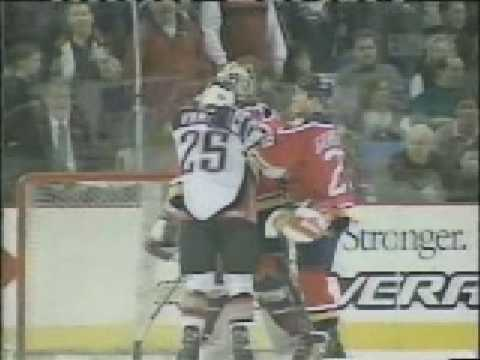 Peca vs Svehla, Buffalo Sabres Florida Panthers Brawl in 99 Video