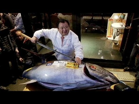 Tuna sells for 32,000 euros in first Tokyo auction of 2015 - no comment