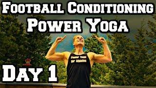 Football Conditioning Warrior Yoga Workout - Power Yoga Challenge 1 of 3 #yogaforathletes