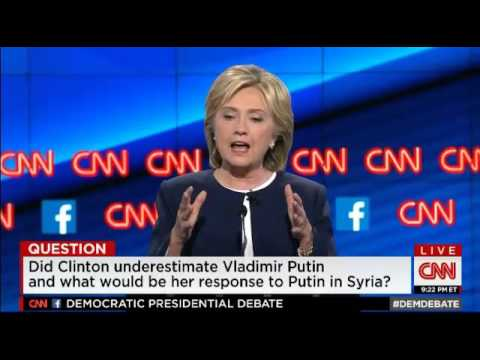 Hillary Clinton on Putin in Syria at First Democratic Presidential Debate