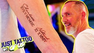 Charlotte Crosby's Dad Gets A Lovely Family Tattoo | Most Thoughtful Tattoos | Just Tattoo Of Us