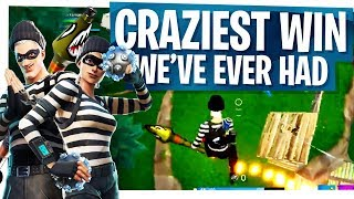The Craziest Win We've Ever Had! - Fortnite Rocket Ride Impulse Nade WIN!