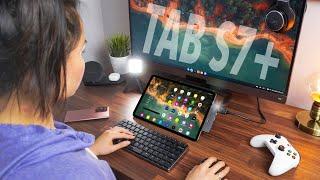 Galaxy Tab S7+ Computer Setup // Favorite Accessories!
