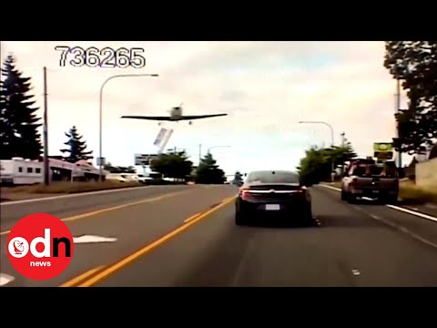 Plane Makes Emergency Landing on Busy Washington Road