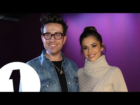 Cheryl and her groups on the Radio 1 Breakfast Show
