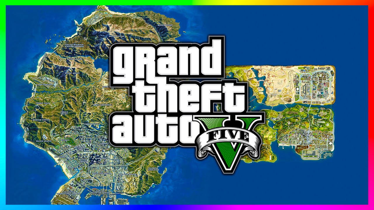 Gta 5 Map Comparison to Gta San Andreas Gta 5 San Andreas Map 2013 v