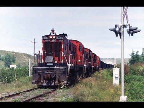 DAR & WHRC trains from the gypsum mines near Windsor, Nova Scotia between 1993 & 2010