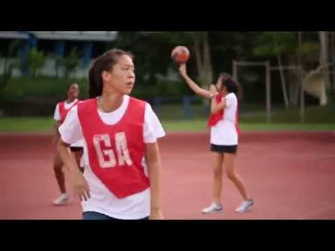 Heart of Anglo Chinese Junior College Netball Team