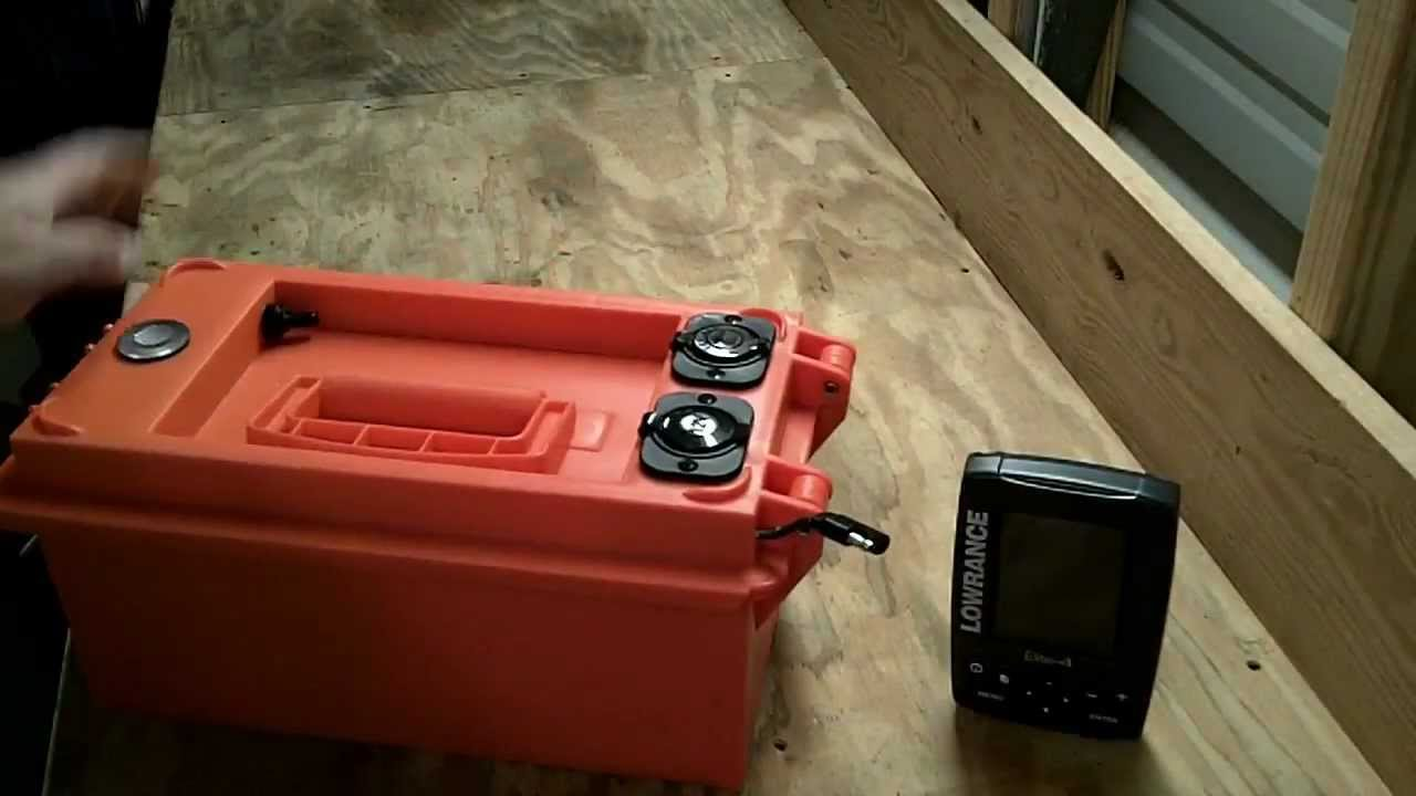 Kayak fish finder 12volt portable power box how to build for Battery powered fish finder