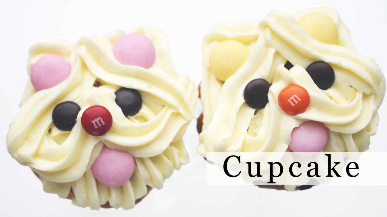 Make Puppy Dog Cupcake Decoration Ideas 강아지 컵케이크 데코하는 법