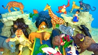 ZOO Wild Animals Learn Names and Sounds and Fun Facts - Kids Educational Toys