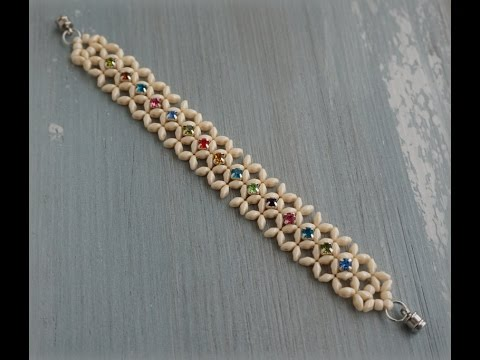 Superduo™ & Montee Beads Diagonal RAW Bracelet Tutorial