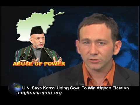 U.N. Says Karzai Using Govt. to Win Afghan Election