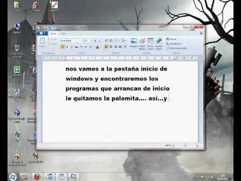 quitar programas de arranque de windows xp,vista y 7
