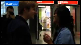 Guy surprised at Heathrow Airport by a...