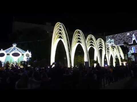 Inauguración del Alumbrado Navideño en Puente Genil  Navidad 2018