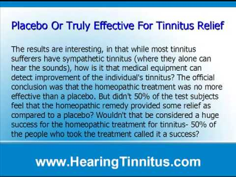 Homeopathic treatment for tinnitus a proven success