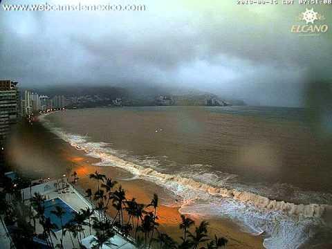 Acapulco Tormenta Tropical Manuel 15 septiembre 2013 (con audio)