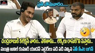 AP Minister Anil Kumar Yadav Funny Comments on Chandrababu Naidu   AP Assembly Live   Mirror TV