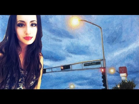 Painting Gloomy Stoplights + my art habits and routines