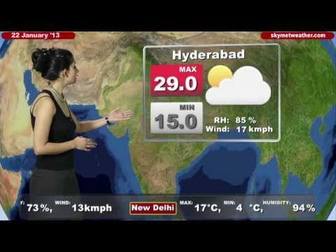 Skymet Weather Report - India January 22, 2013