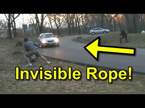 Funny Pranks Invisible Rope Prank