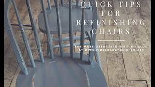 Time Saving Tip for Refinishing Chairs