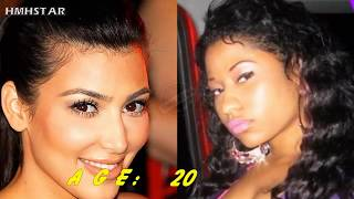 Kim Kardashian & Nicki Minaj AGE 1-36 TRANSFORMATION