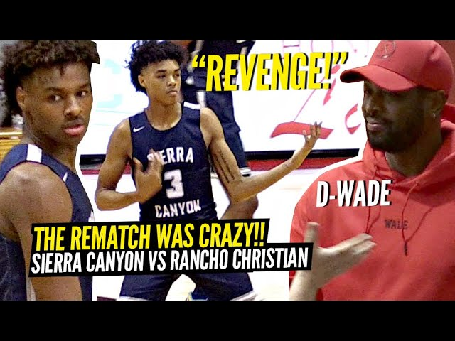 Celebrities Lined Up To Watch BRONNY James & Sierra Canyon REMATCH vs Rancho Christian! BJ Went OFF! thumbnail