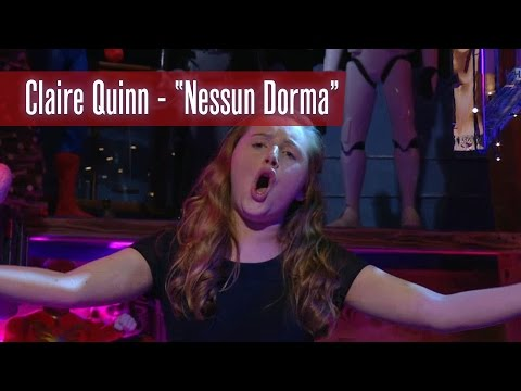 Late Late Toy Show: Claire Quinn sings Nessun Dorma