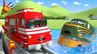 Xe lửa Troy - Troy nhân viên cứu hộ - Thành phố xe 🚉 những bộ phim hoạt hình về xe tải cho thiếu nhi