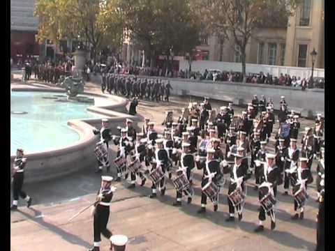 Massed Bands of the Sea Cadet Corps - National Trafalgar Parade 2011 - Part 1