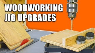 Woodworking Jig Upgrades: Table Saw Miter Jig & Drill Press Fence