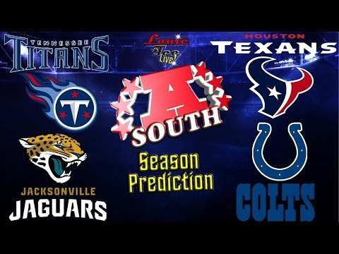 2017 NFL Season: AFC South Season Preview & Predictions #LouieTeeLive