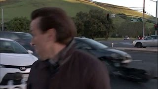 KTVU reporter almost hit by car on live TV