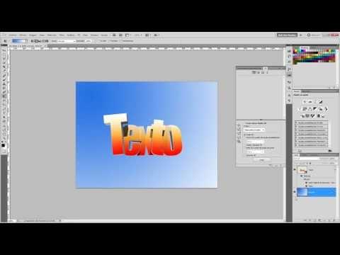 Cómo hacer un texto 3D en Photoshop