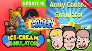 *CODES* ICE CREAM & ARMY CONTROL SIMULATOR Live Gameplay   Update   Family Friendly Roblox 2018