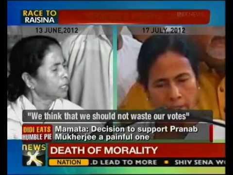 Pranab Mukherjee thanks Mamata for support - NewsX