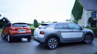 Renault Captur vs Citroën C4 Cactus : l'essai comparatif en vidéo (2014)