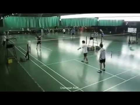 Lee Chong Wei training