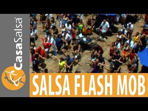 Flash Mob at Beach Place on  Fort Lauderdale Beach : Casa Salsa Dance Studio
