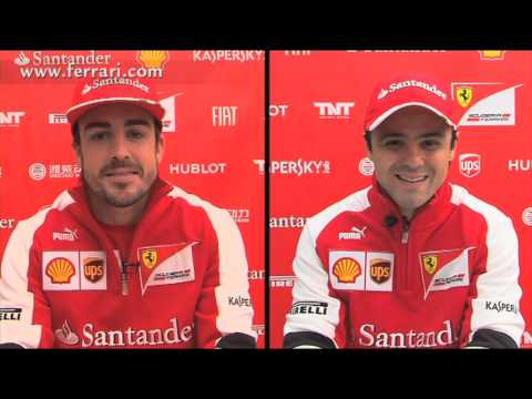 F1 2013  - Ferrari - Double interview with Alonso and Massa